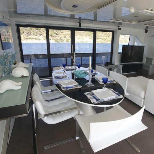 ヨット用ドア / ボート用 / スライド式 / ガラスパネル付き