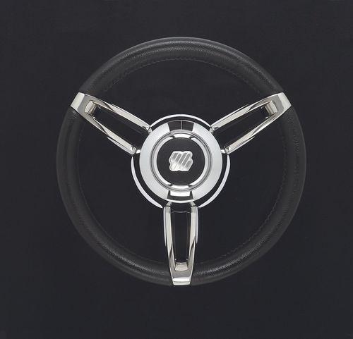 皮革製ステアリングハンドル