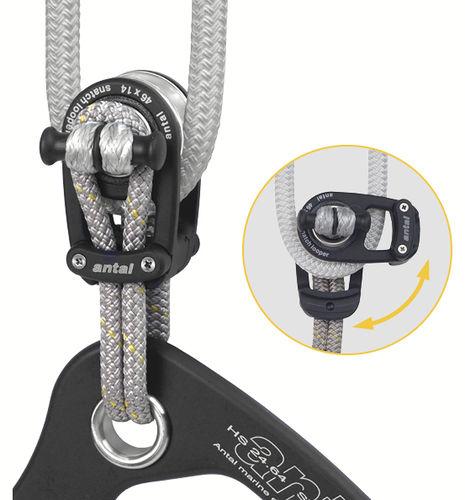 スナッチブロック / 単一 / テキスタイル固定用 / 最大ロープサイズ:14 mm