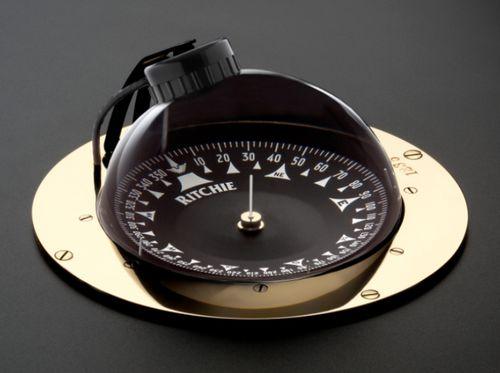 ヨット用ルートコンパス / 磁気 / 横型 / はめ込み式