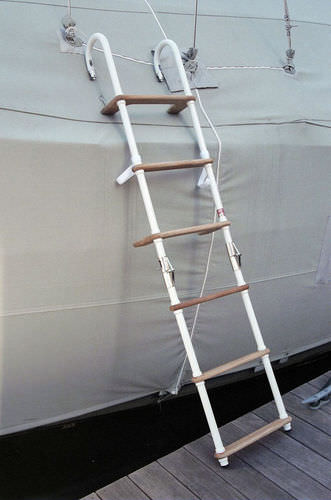 ヨット用はしご / フック / 搭乗 / 手動
