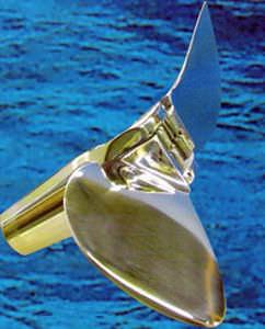 競技用ヨット用スクリュー / フォールディング / プロペラ軸 / 2 水かき