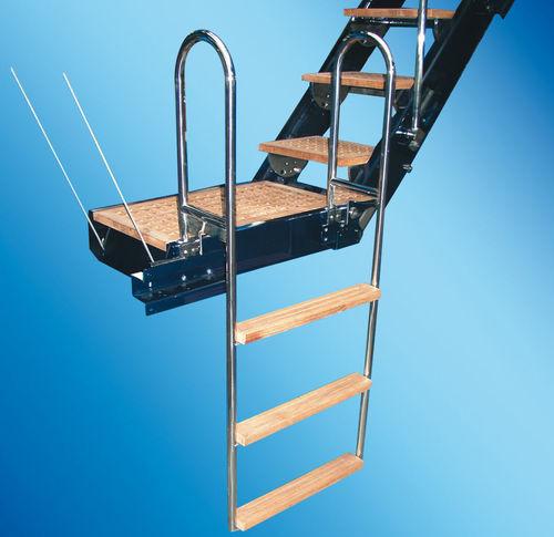 ヨット用はしご / 側面 / 搭乗 / 手動