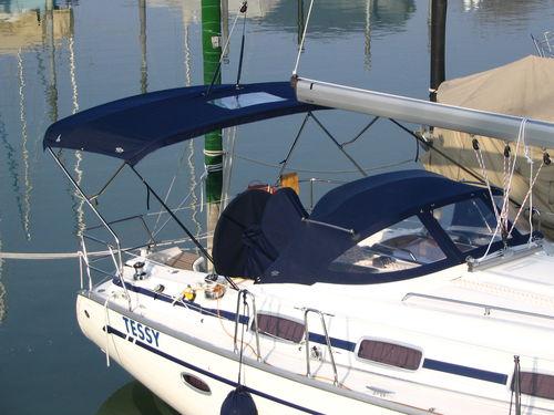 帆船用ビミニトップ / コックピット / ステンレス鋼フレーム / カスタム