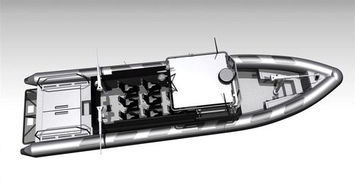 監視船 / 船内 / ディーゼル式 / 複合艇