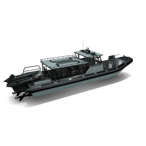 監視船 / 船内 / 複合艇