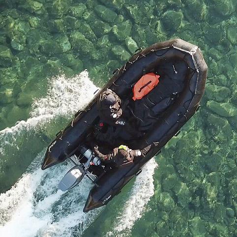 軍船業務用ボート / 船外 / 折り畳みインフレータブルボート
