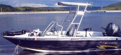 ボート用ビミニトップ / ステアリングステーション / アルミフレーム / 剛体