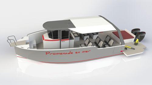 客船業務用ボート / 船外機 / アルミ製