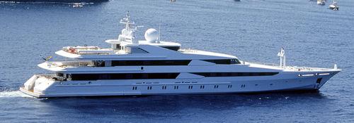 クルージングメガヨット / 高部操舵室 / スチール製 / 12キャビン