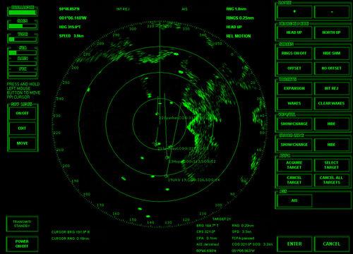 船用レーダー / ARPA / AIS付き