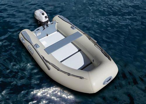 船外機インフレータブルボート / 折り畳み式 / スノコ床