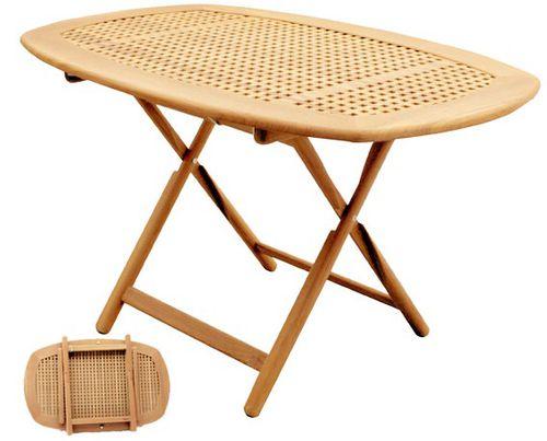 調節可能コックピットテーブル / 折畳み / チーク材
