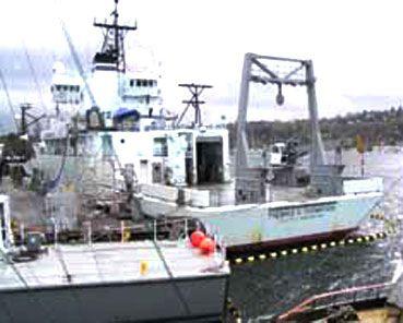 海洋調査船クレーン / ガントリー / デッキ