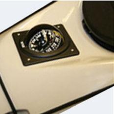 カヤック用ルートコンパス / 磁気 / 横型 / はめ込み式