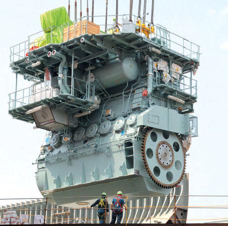 ディーゼル式船舶モーター