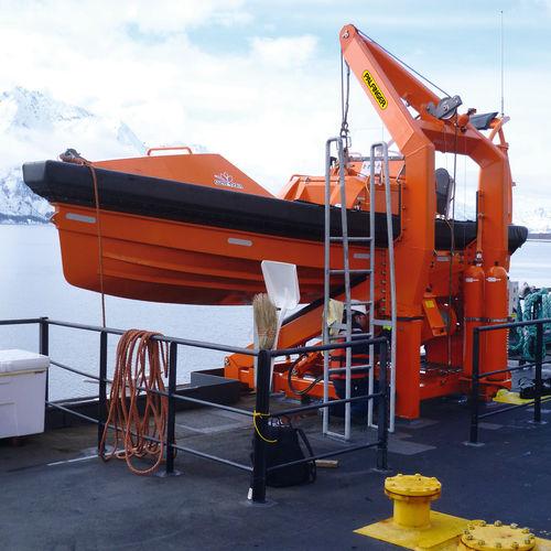 船用ダビット / 救助船用 / 油圧 / 係留フレーム付
