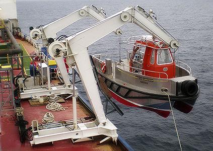 船用ダビット / 作業ボート用 / 油圧