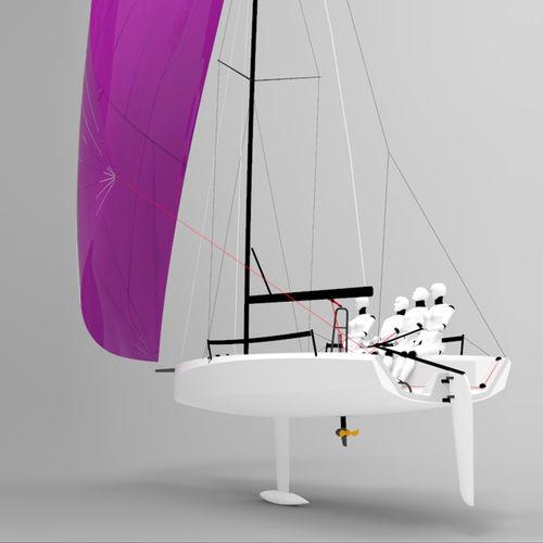 モノハル / スポーツキールボート / レース用 / オープントランサム