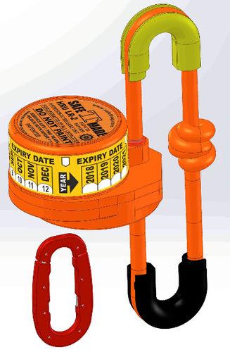 EPIRB用水圧リリースユニット