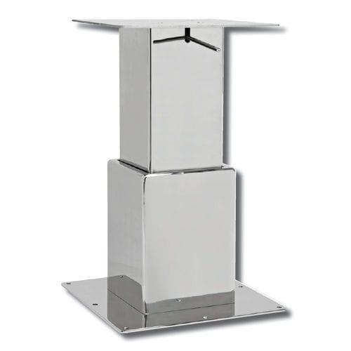 調節可能テーブル用柱脚 / 伸縮 / ステンレススチール製