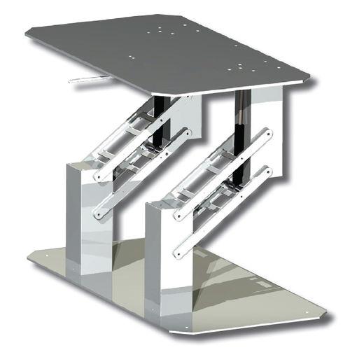 伸縮式テーブル用柱脚