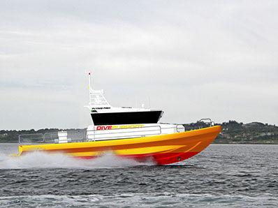 潜水サポート船 / インボードウォータージェット / アルミ製