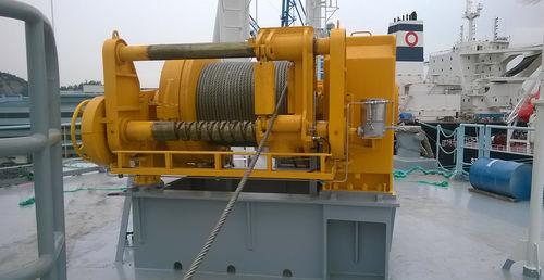 船用ウィンチ / 牽引用 / 油圧モーター / シングルドラム