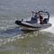船外インフレータブルボート / 半硬式 / セントラル コンソール / アルミ製