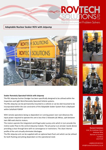Adaptable Nuclear Seaker ROV with Jetpump