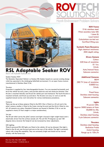 RSL Adaptable Seaker ROV