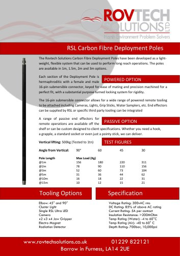 RSL Carbon Fibre Powered Deployment Poles