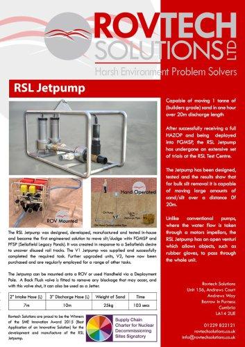 RSL Jetpump for ROVs