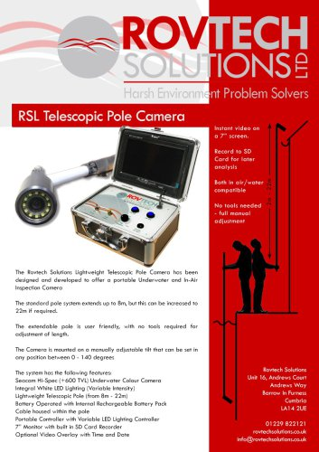 RSL Lightweight Telescopic Pole Camera