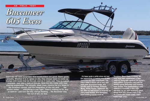 Australian Boat Review 605 Exess