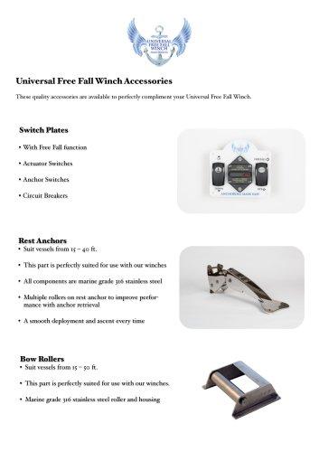 Universal Free Fall Winch Accessories