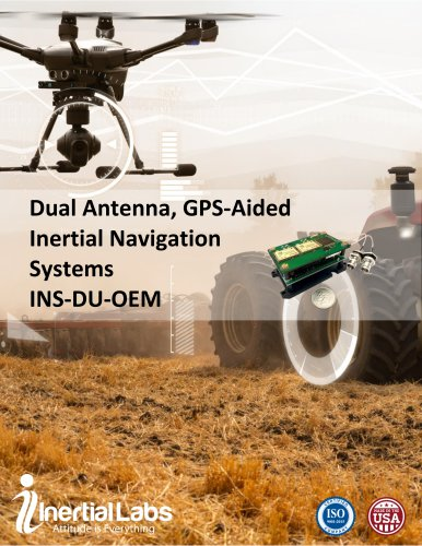 INS-DU-OEM — OEM Version of Dual Antenna GPS-Aided Inertial Navigation System with uBlox GNSS Receiver and miniAHRS