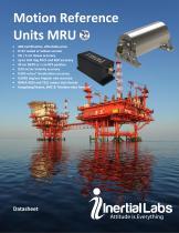 MRU-B, MRU-E, MRU-P — Motion Reference Units