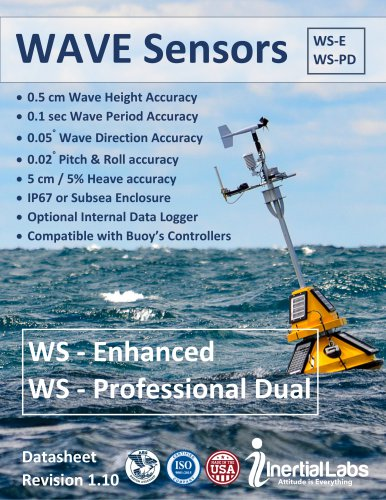 WS-E, WS-PD — Oceanic Wave Sensors for Smart Bouys and Marine Platforms