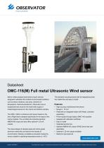 OMC-116(M) Full metal Ultrasonic Wind sensor