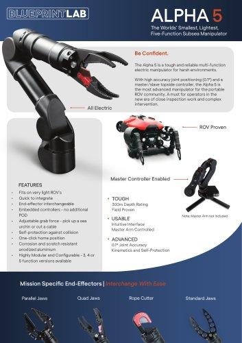 Alpha 5 Robotic Manipulator Arm Datasheet