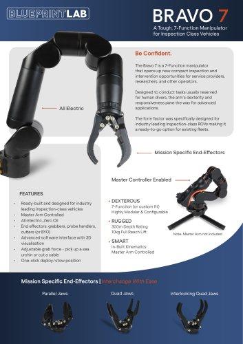 Bravo 7 Robotic Manipulator Arm Datasheet