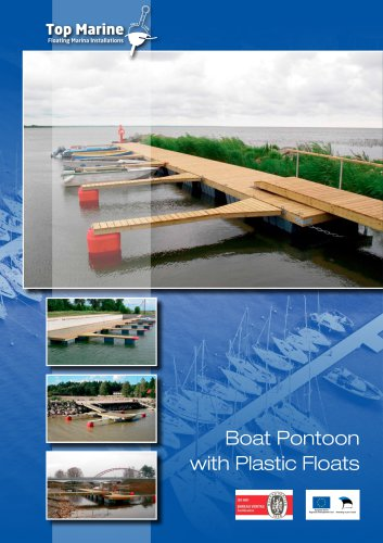 Boat Pontoon with Plastic Floats