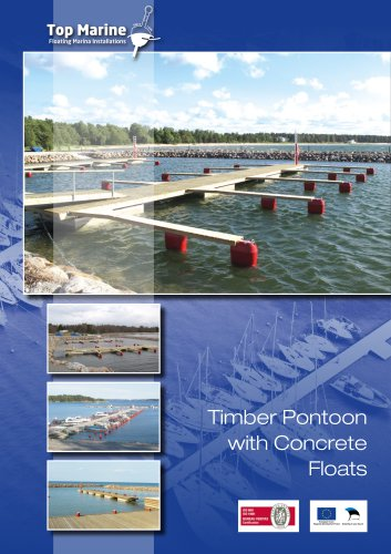Timber Pontoon with Concrete Floats