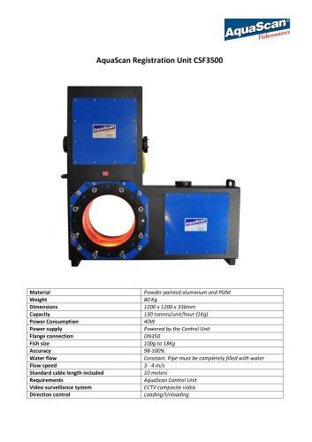 AquaScan Registration Unit CSF3500