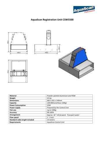 AquaScan Registration Unit CSW