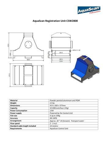 AquaScan Registration Unit CSW2800