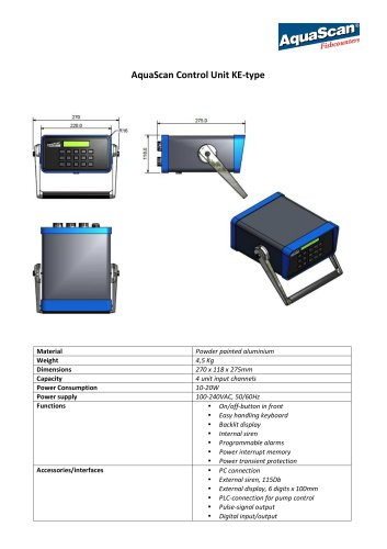 Datasheet Control Unit