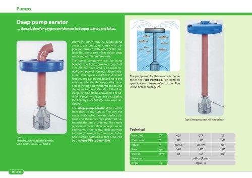 Deep pump aerator
