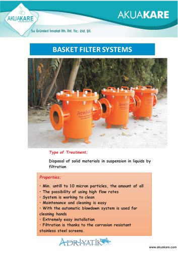 BASKET FILTER SYSTEMS